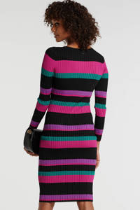 GUESS ribgebreide jurk met glitters roze/multicolor