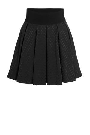 A-lijn rok met plooien zwart