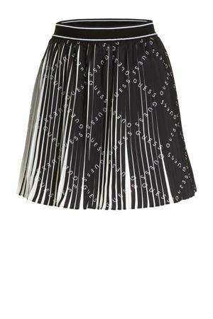 A-lijn rok Page met all over print zwart/wit