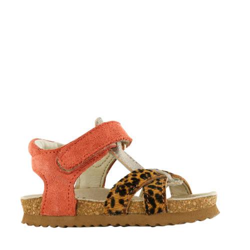 Shoesme BI20S074-C su??de sandalen koraalrood/pant