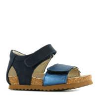 Shoesme BI20S078-D  leren sandalen donkerblauw, Donkerblauw/Metallic