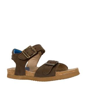 BI9S092-F  leren sandalen donkerbruin