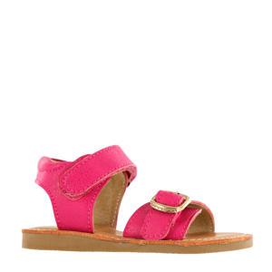 CS20S004-I  leren sandalen fuchsia