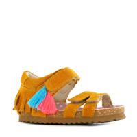 Shoesme BI20S084-B  suède sandalen okergeel, Okergeel/multi