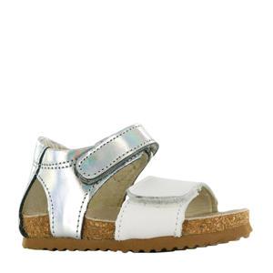 BI20S078-E  leren sandalen metallic/wit