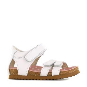 BI20S083-C  leren sandalen wit