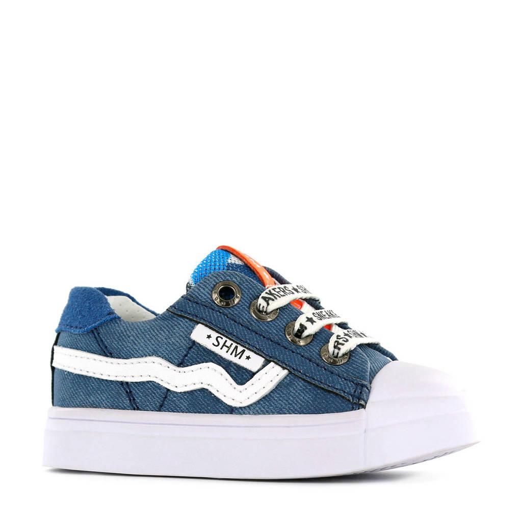 Shoesme SH20S036-H  leren sneakers blauw/wit, Blauw/wit