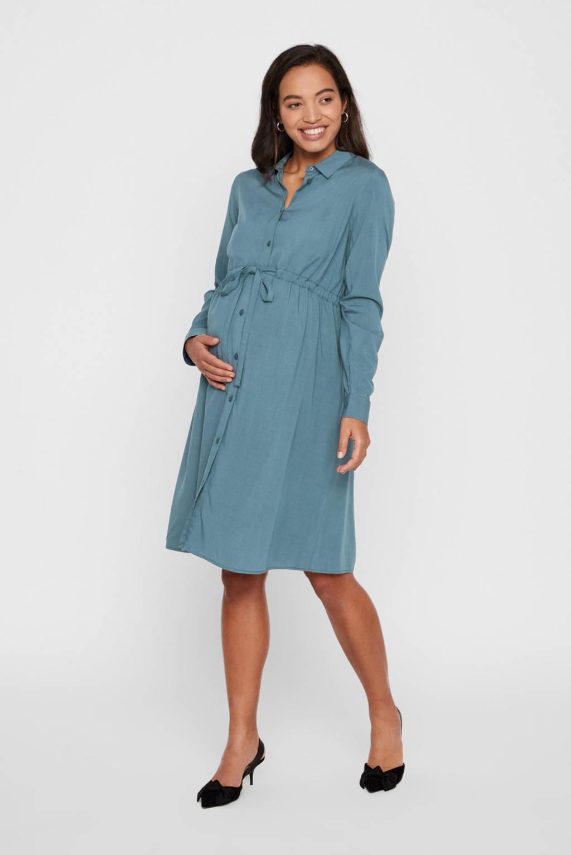 MAMALICIOUS zwangerschapsjurk Louisa grijsblaud, Grijsblaud