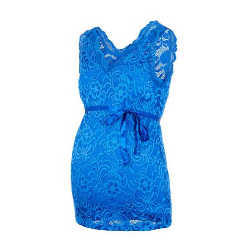 MAMALICIOUS zwangerschapstop Mivana met kant blauw