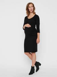 MAMALICIOUS zwangerschapsjurk Lea met biologisch katoen zwart, Zwart