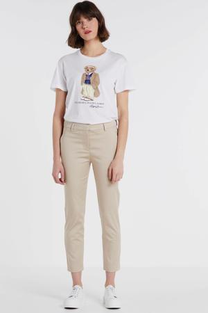 slim fit pantalon Kylie 531 Crop beige