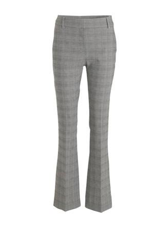 geruite flared pantalon Clara Long grijs