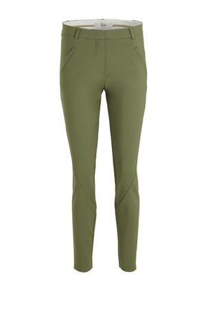 slim fit broek Angelie Split groen