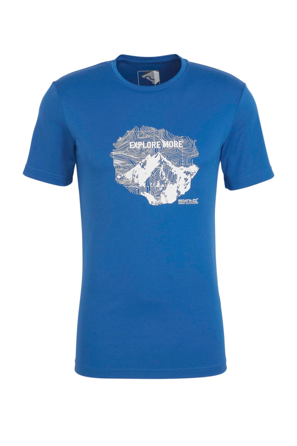 Regatta outdoor T-shirt blauw, Blauw
