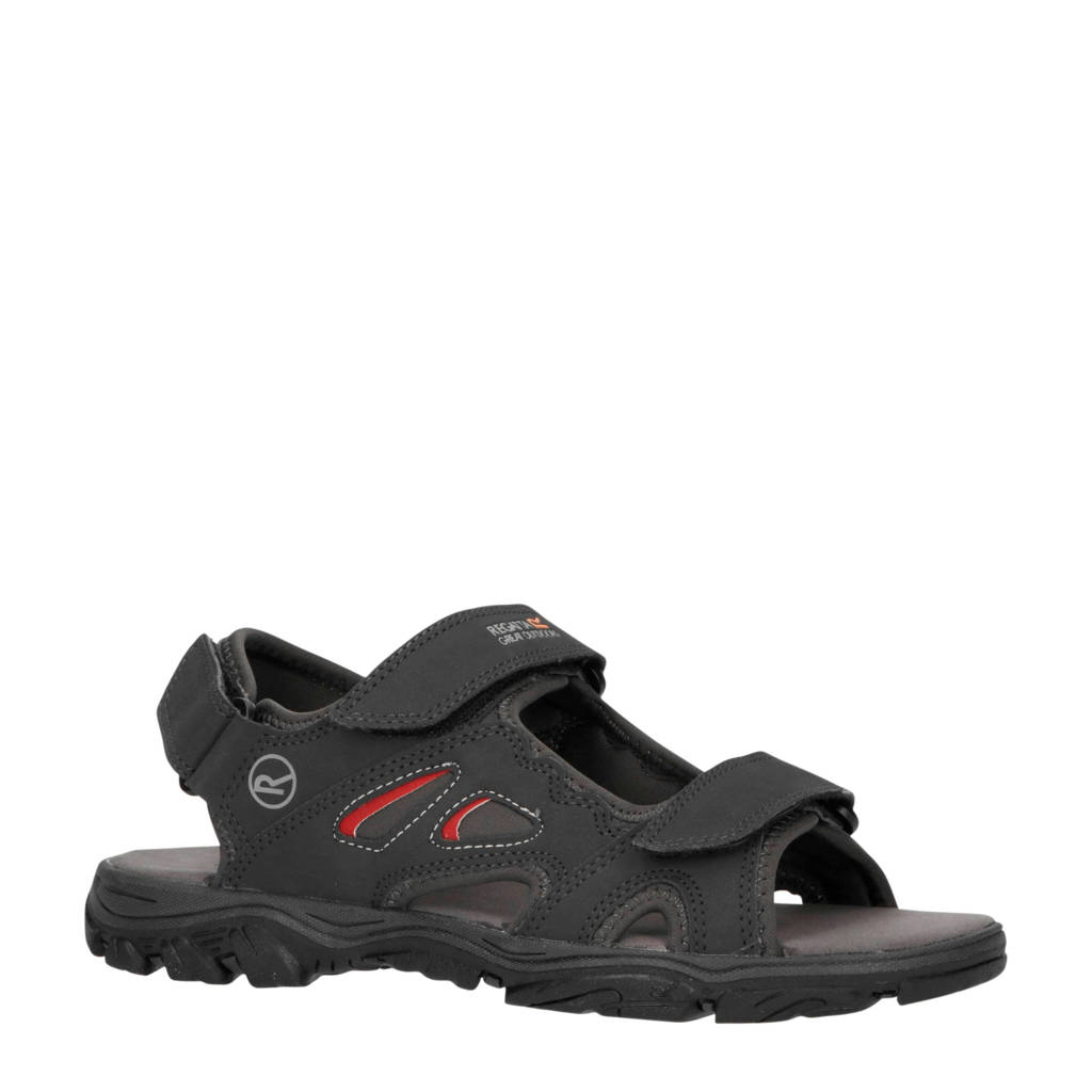 Regatta Holcombe Vent  outdoor sandalen grijs/rood, Antraciet/rood