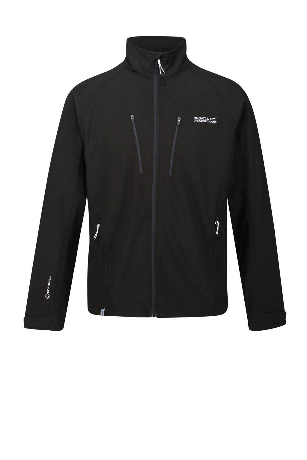Regatta softshell jas zwart, Zwart