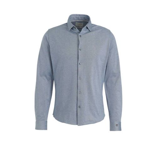 Cast Iron slim fit overhemd blauw