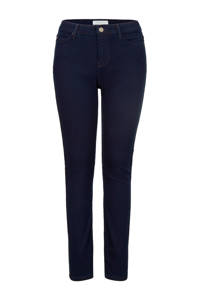 PROMISS cropped high waist skinny jeans donkerblauw, Donkerblauw