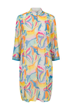 blousejurk met all over print wit