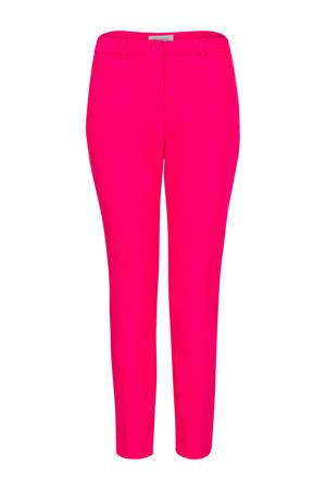 slim fit pantalon neon roze