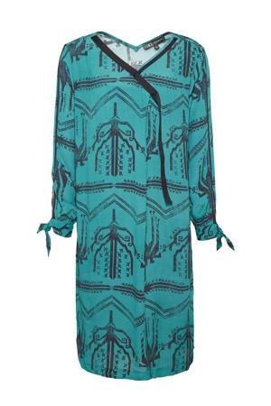 jurk met all over print groen