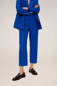 Mango slim fit pantalon blauw, Blauw