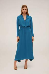 Mango maxi jurk blauw, Blauw