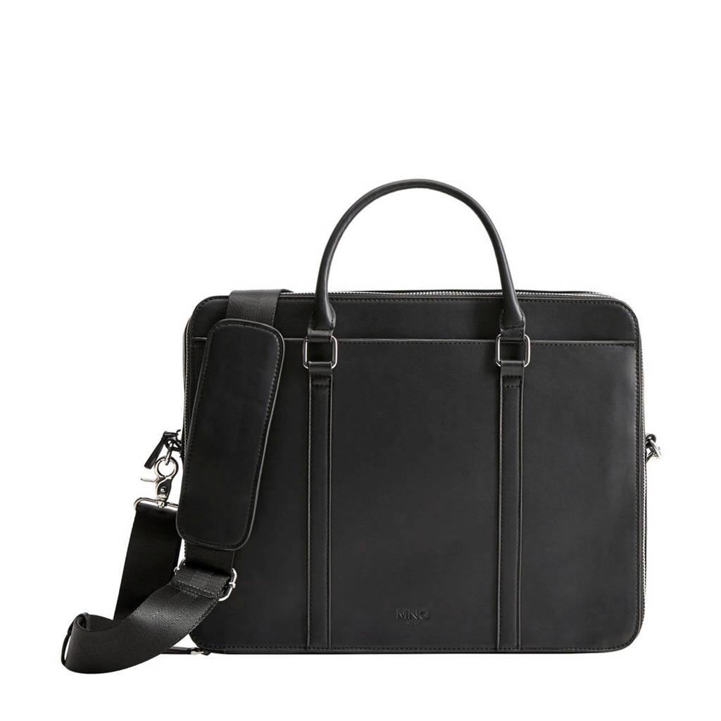Mango Man   13,3 inch laptoptas zwart, Zwart