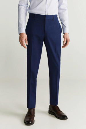 slim fit pantalon middenblauw