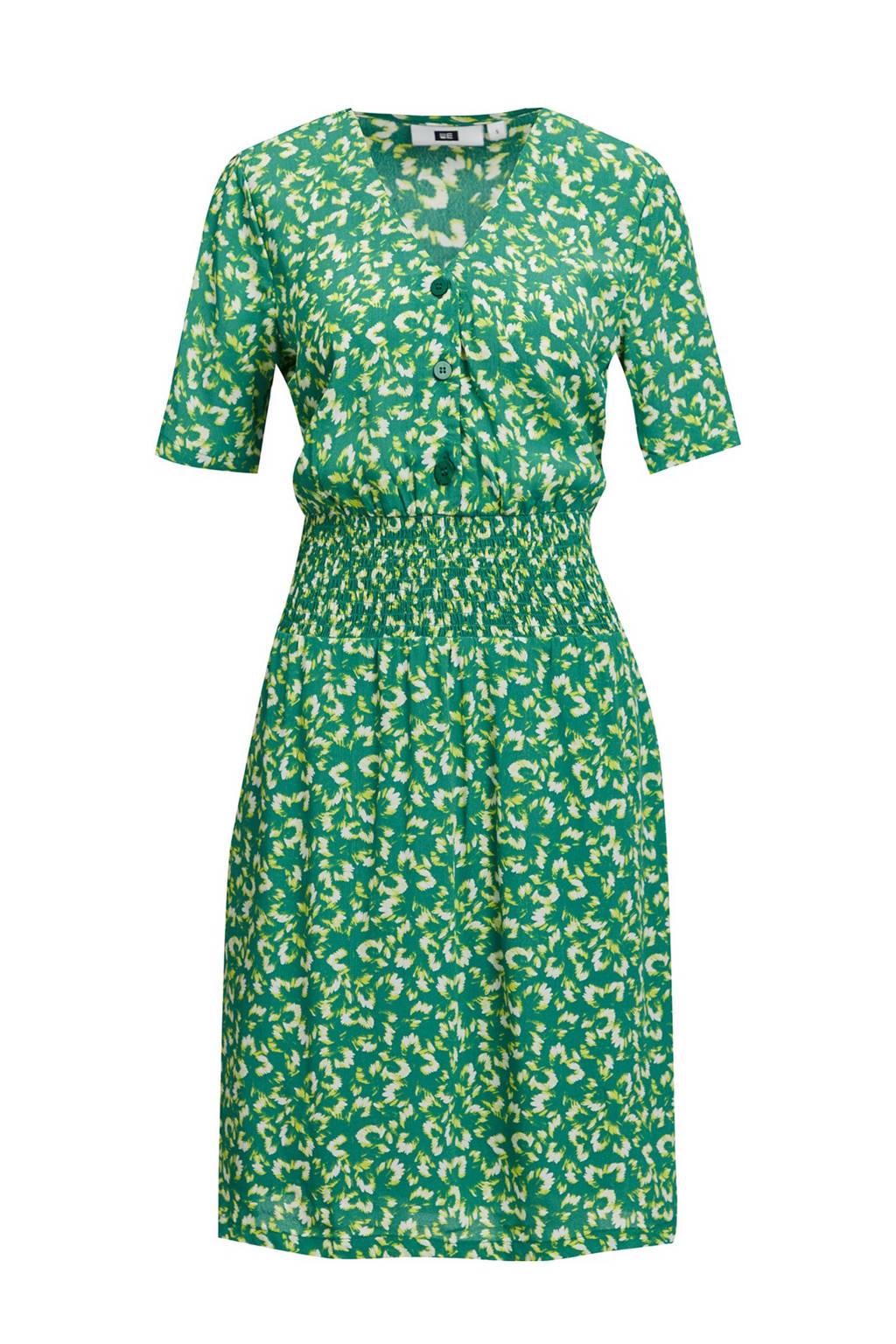 WE Fashion jurk met all over print groen, Groen