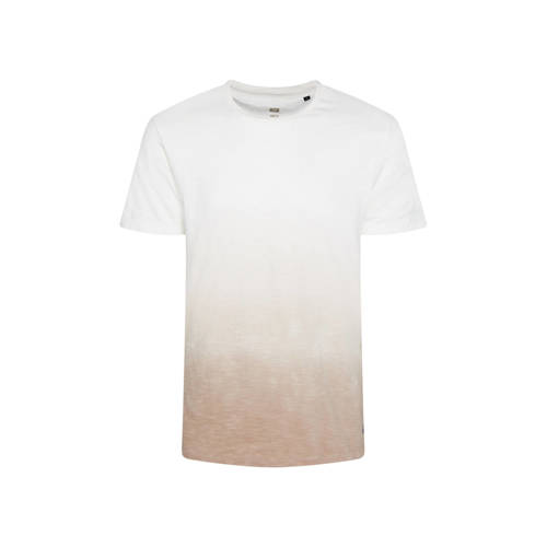 WE Fashion dip-dye T-shirt beige/wit