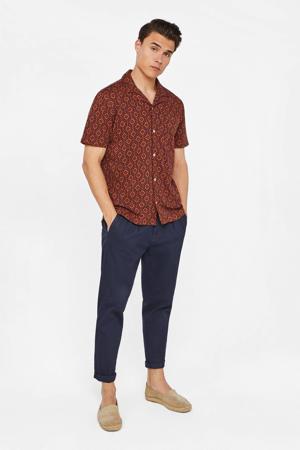 regular fit overhemd met all over print brique