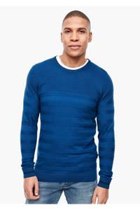 s.Oliver gestreepte trui kobaltblauw, Kobaltblauw
