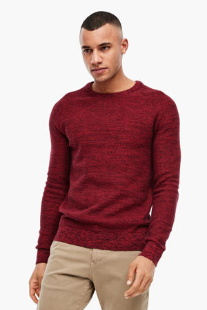 gemêleerde trui rood