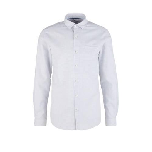 s.Oliver slim fit overhemd wit