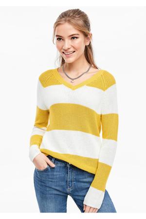 gestreepte trui geel/wit