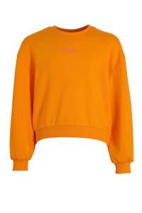 s.Oliver sweater met tekst oranje/roze, Oranje/roze