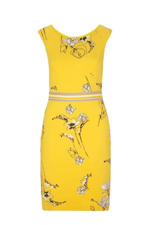 jurk met all over print geel