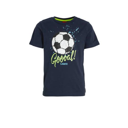 s.Oliver T-shirt met printopdruk en pailletten don