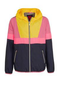 s.Oliver jas donkerblauw/lichtroze/geel, Donkerblauw/lichtroze/geel