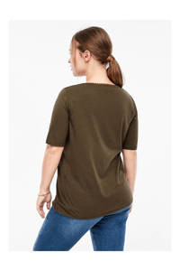 TRIANGLE T-shirt bruin, Bruin