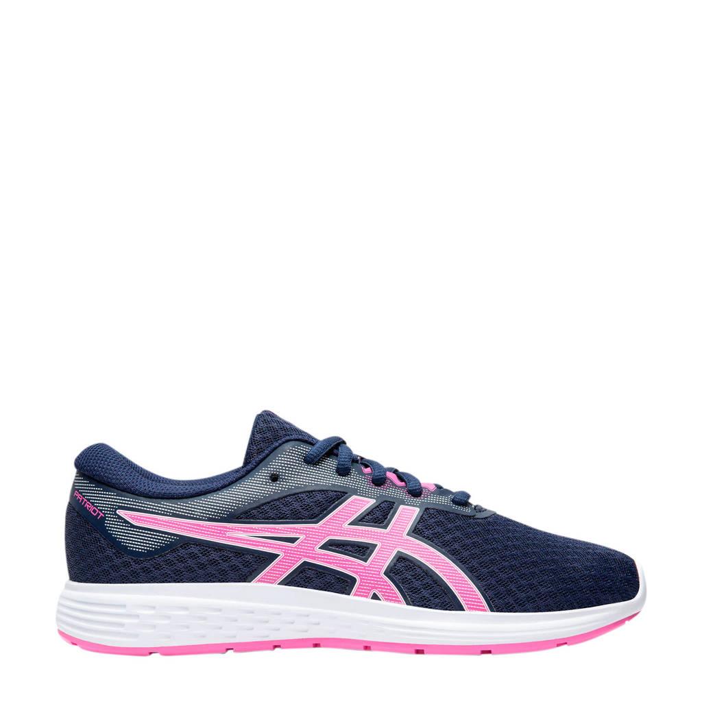 ASICS Patriot 11 GS hardloopschoenen donkerblauw/roze meisjes, Donkerblauw/roze