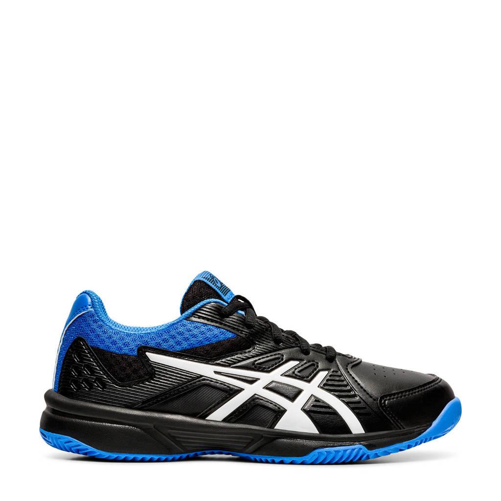 ASICS Court Slide Clay GS tennisschoenen zwart/kobaltblauw kids, Zwart/kobaltblauw