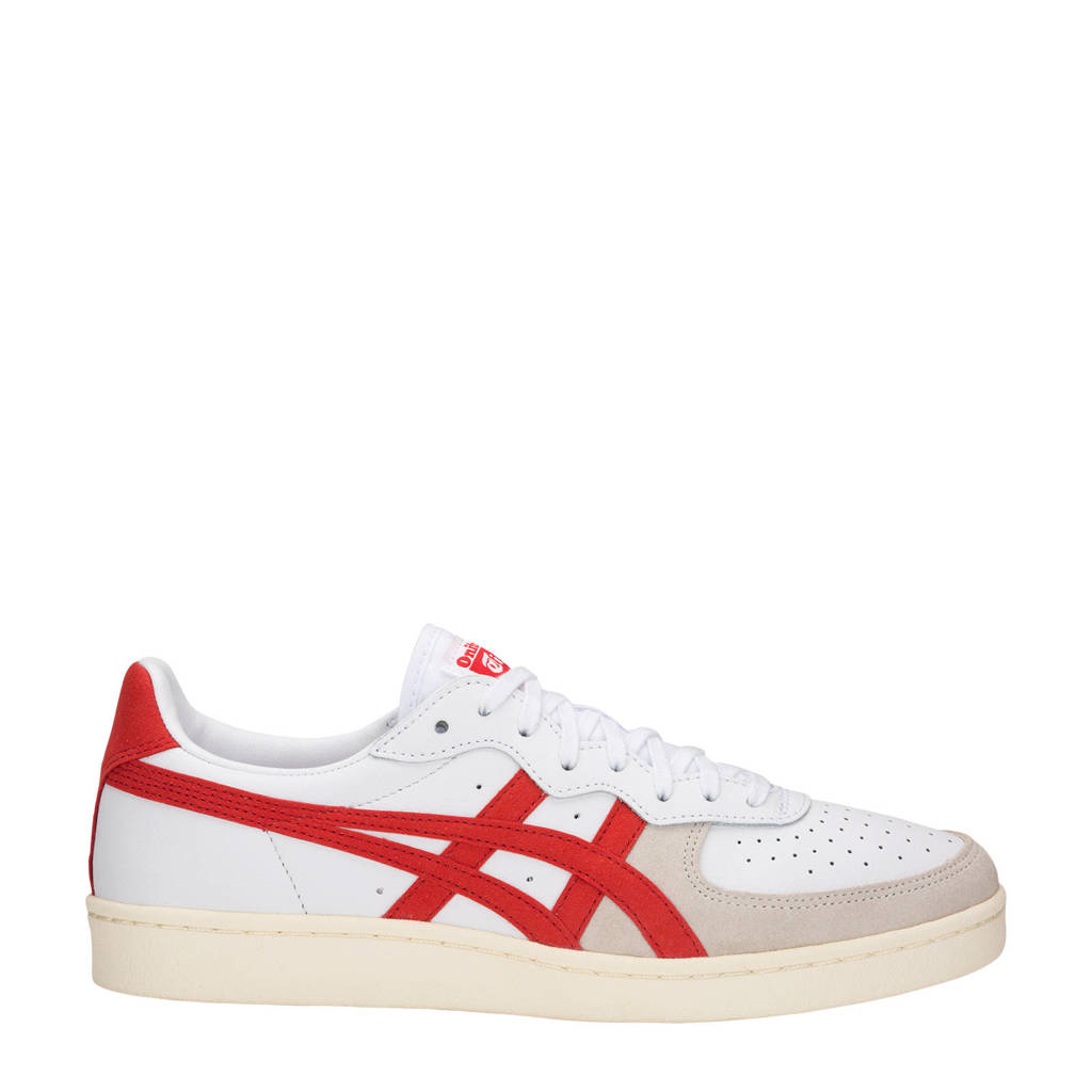 ASICS Tiger GSM leren sneakers wit/rood, Wit/rood