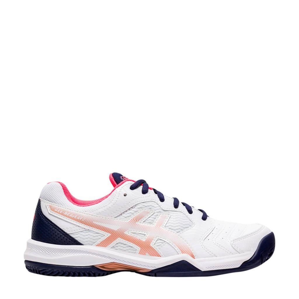 ASICS Gel-dedicate 6 Clay tennisschoenen wit/rood, Wit/roze
