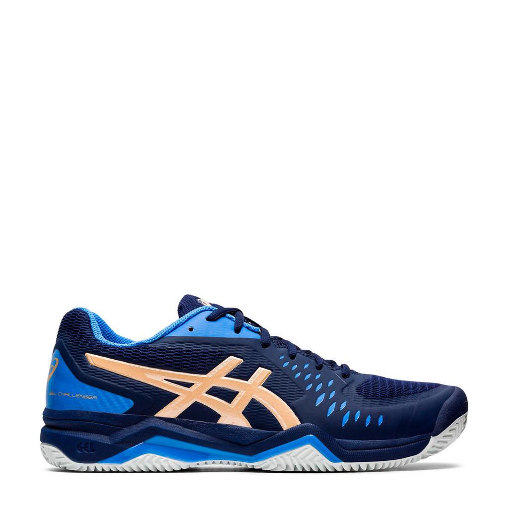ASICS Gel-Challenger 12 Clay tennisschoenen donkerblauw/goud, Donkerblauw/goud