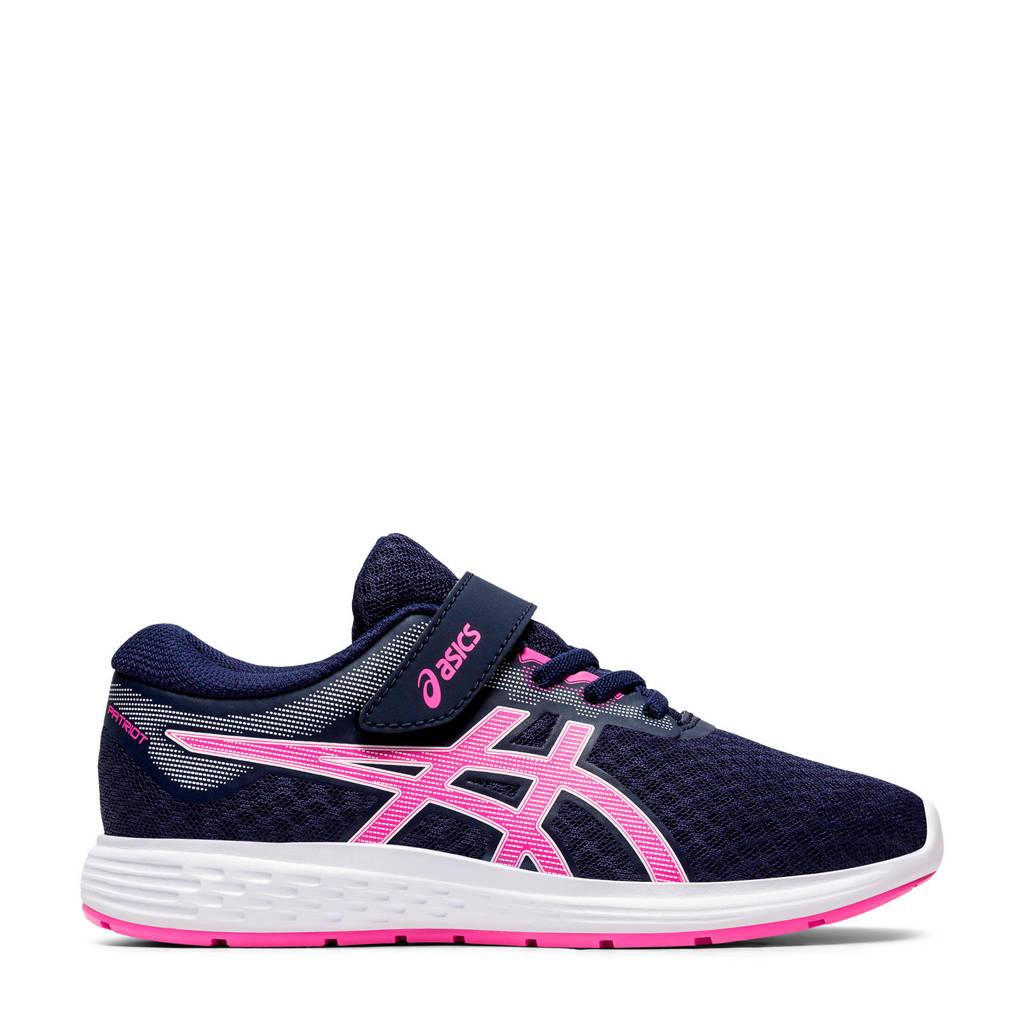 ASICS Patriot 11 PS hardloopschoenen donkerblauw/roze meisjes, Donkerblauw/roze