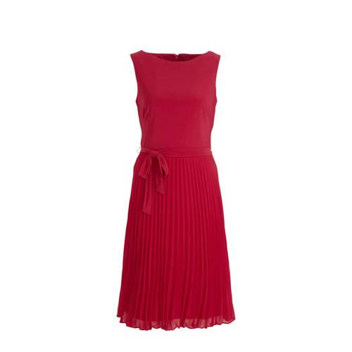 Lauren Ralph Lauren A lijn jurk met ceintuur fuchsia