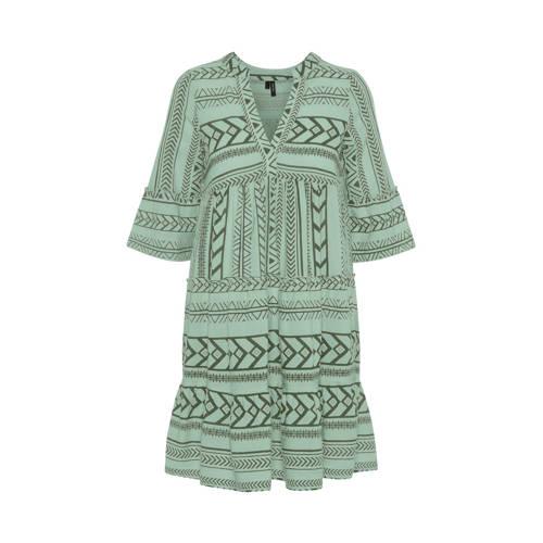 VERO MODA jurk met grafische print groen