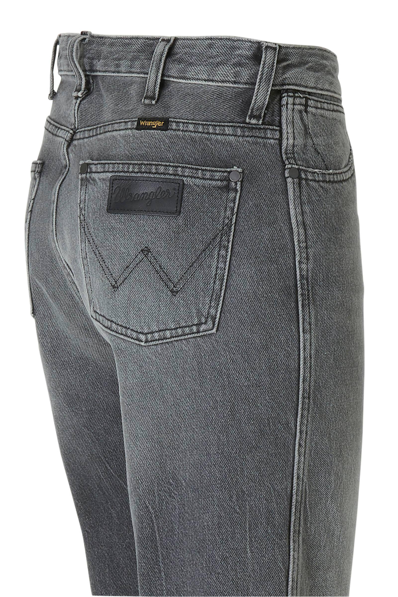 Wrangler high waist loose fit jeans grijs